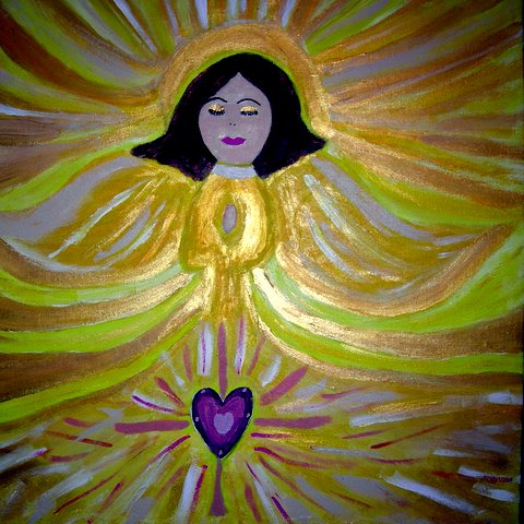 Angel Whisperer's Angel Painting